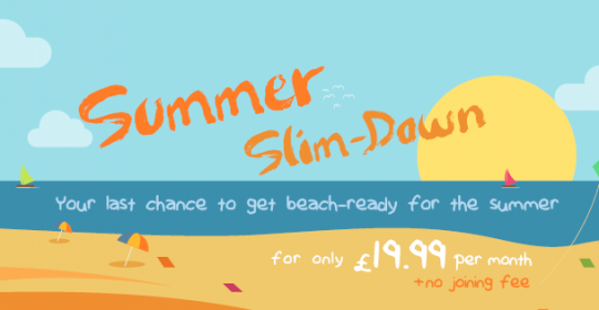 There's Still Time To Slim Down This Summer At £19.99pm. No Joining Fee!