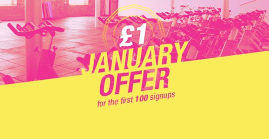 Join This January And Get Your First Month For £1!